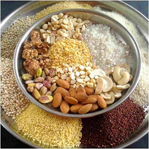 Savastha 100% Natural Multi Grain Health Mix Powder, Blend of Cereals, Pulses and Nuts. 500 Gm